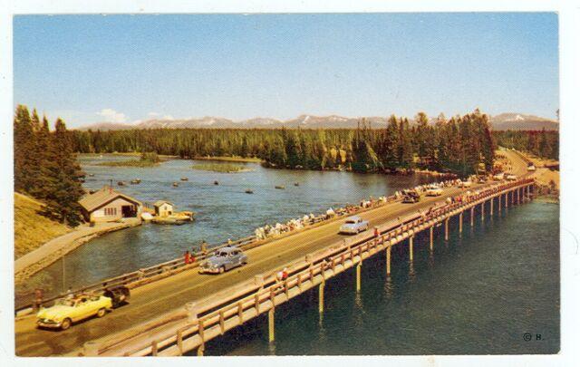 Yellowstone National Park Postcard Fishing Bridge