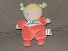 Fisher Price My Little Doll Lovey Blonde Hair Blue Eyes Peach Body Green Bows