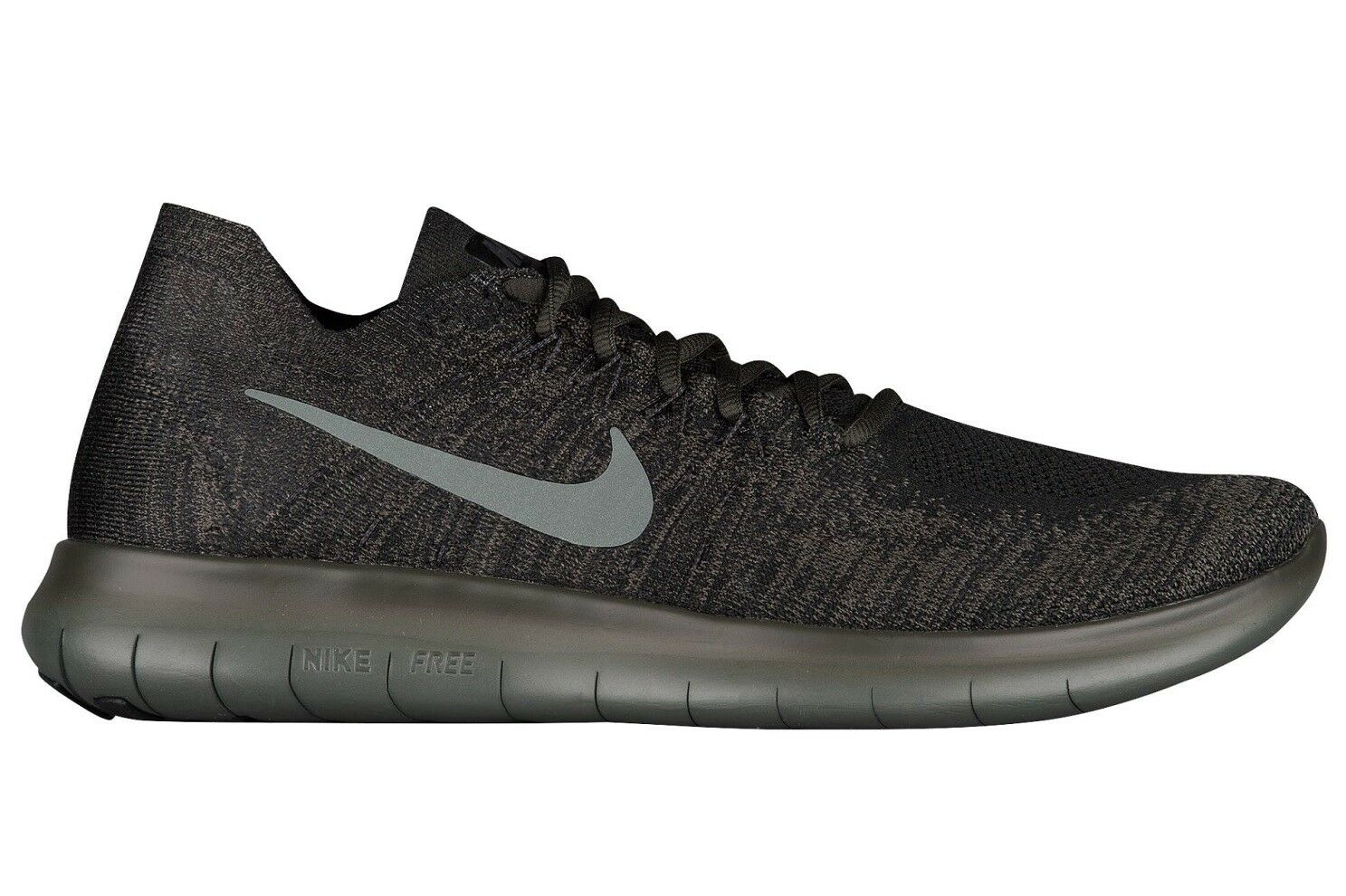 Nike Free RN Flyknit 2018 Mens 880843-012 River Rock Running Shoes Size 10.5