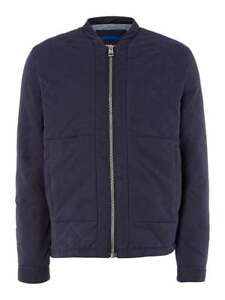 d1711f8bd Details about CALVIN KLEIN NEW PADDED BOMBER JACKET RRP £165 S-M TAGS COAT  QUILTED OCOTT BLUE