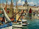 Canvas Art Print Boats Oil painting Picture Printed on canvas 16X20 Inch P130