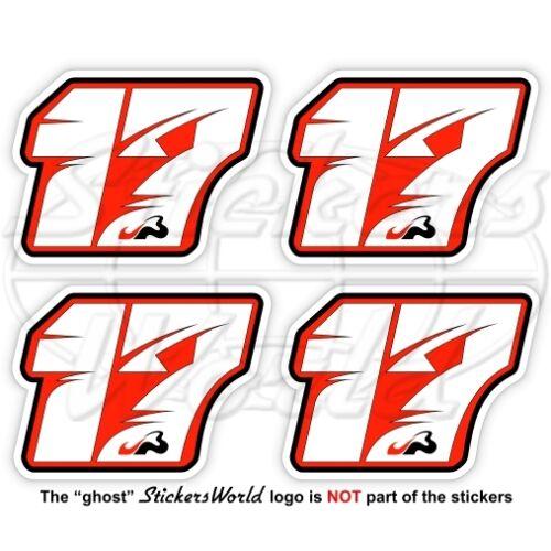 JULES BIANCHI 17 Red Formula 1 F1 50mm Sticker Adesivo Aufkleber Autocollant x4