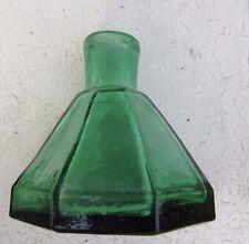 Antique Emerald Green Paneled Ink Bottle