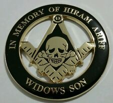 Freemason Masonic Hiram Abiff Widows Son Cut-Out Car Emblem