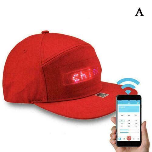 New Animated LED Sign Hiphop Cap Snapback Baseball Y5M0 Unisex Adjustable A5W9