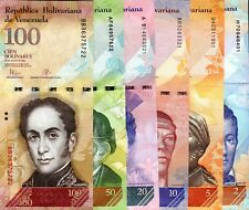 VENEZUELA 2-100 Bolivares Banknote World Paper Money Currency Pick p88-93 6 Note