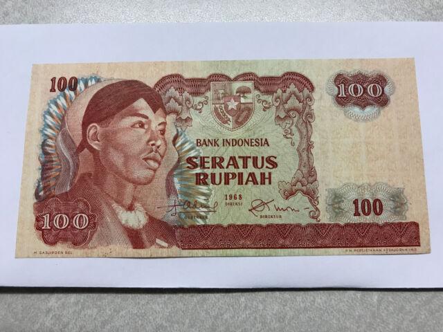1968 Indonesia 100 Rupiah Crisp CH Unc. #4917