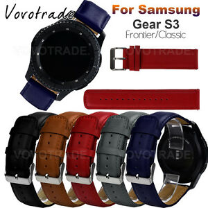 replacement leather bracelet watch band for samsung gear s3 frontier classic ebay. Black Bedroom Furniture Sets. Home Design Ideas