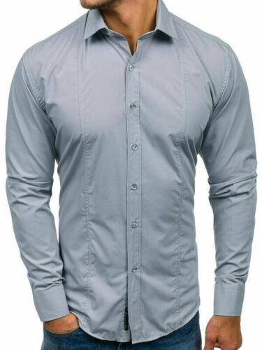 Mens New Business Dress Shirts T Shirt Slim Fit Long Sleeve Shirt Stylish