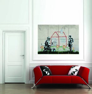 Banksy-ejecucion-de-una-hipoteca-pared-gigante-de-Graffiti-Arte-Callejero-Nuevo-cartel-Impresion