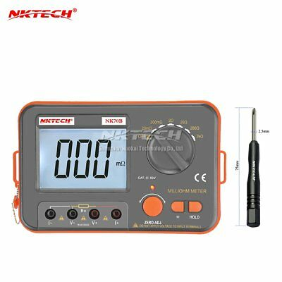 NKTECH NK70B Digital Multimeter Diagnostic-tool Milli-ohm 4Wire Meter VC480C+