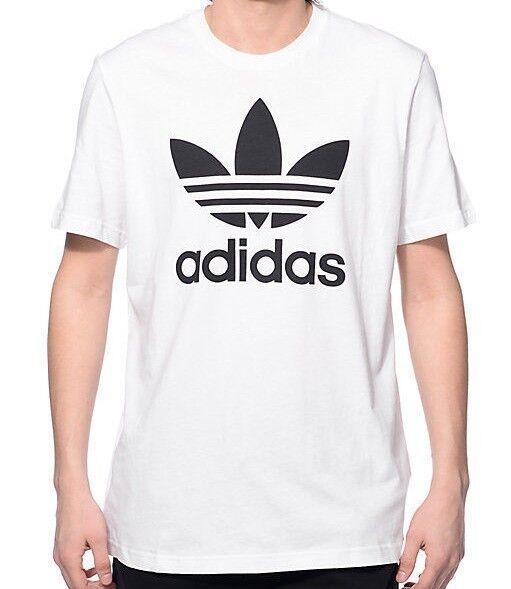 b02c5f95a adidas Mens Original Trefoil Tee White Aj8828 Select Size L for sale online