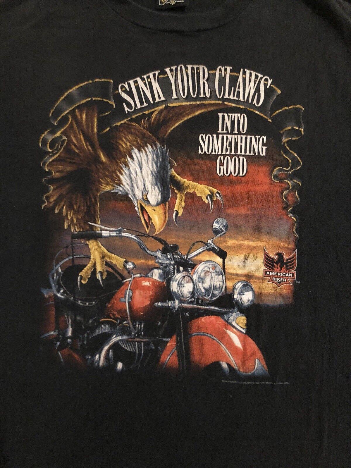 3d emblem vintage shirt Sink Your Claws The Cycle Den XL PA