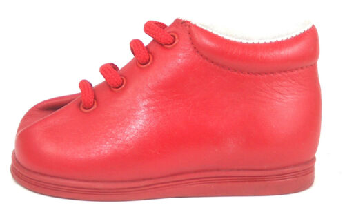 DE OSU A-328 Baby Boys Girls European Red Leather Walking Boots Sz 2 3 4 6.5