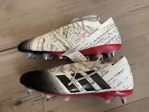 Pareja al revés sector  Adidas nemeziz 18.1 SG Botines De Fútbol Blanco Negro Rojo para Hombres  Talla 13 Messi con herramienta | eBay