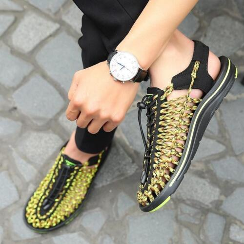 2019 Roma Woven Hollow Out Slingback Casual Mens Beach Sandals Summer Shoes xiem