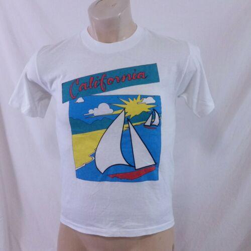 Vintage 80s California Tourist T Shirt Single Stit