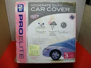 BRAND NEW PROELITE SIZE 3 CAR COVER UV PROTECTED MODERATE DUTY STORAGE BAG BNIP
