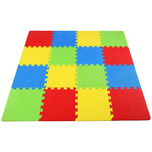 Foam Floor Play Interlocking Mat Gym Puzzle 16 Sqft 12