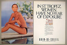 Bain de Soleil Tan Lotion 2-Page PRINT AD - 1988 ~ swimsuit