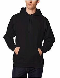 Hanes-Men-039-s-Pullover-Ultimate-Heavyweight-Fleece-Hoodie-Black-Size-Large-qwo6