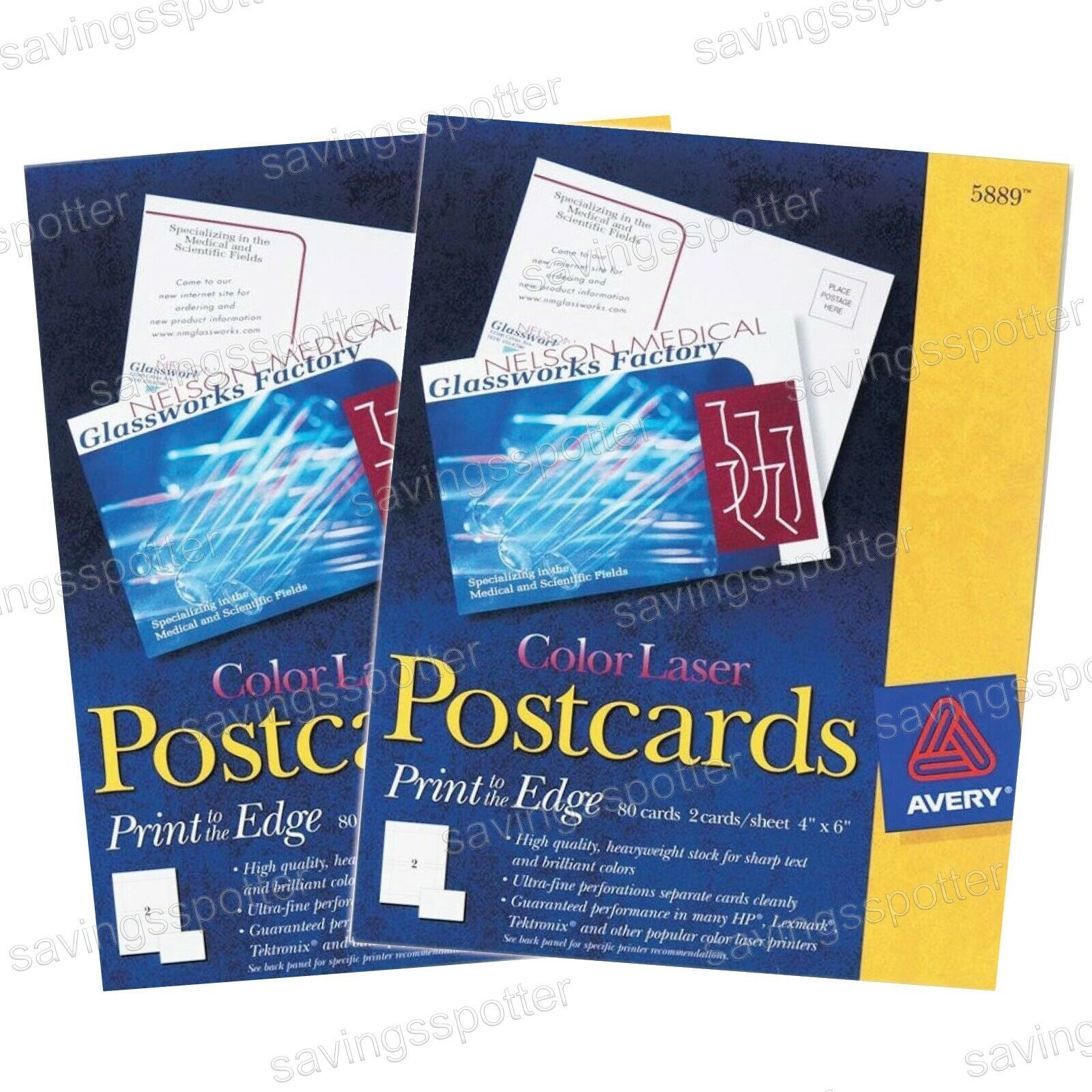 160 ct. Avery color Laser Postcards Print to the Edge 4  x 6  Cards Laser