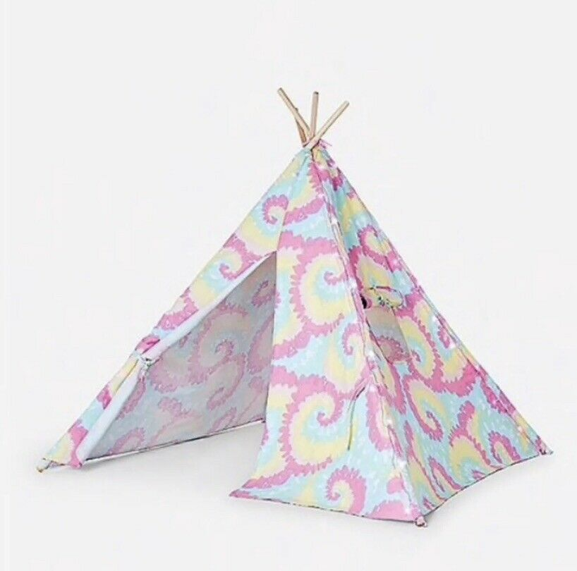 Neuf avec étiquettes Justice tweenbrand filles Light Up tente tipi Camp rapide navire sold out