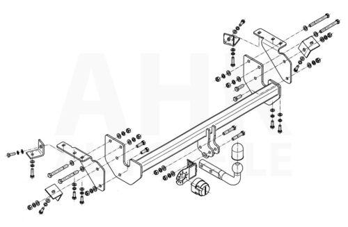 E-Jeu 7p Pour Mitsubishi ASX à Partir De 12 Complet attelage rigide