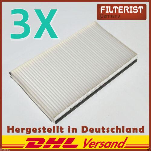 3x Innenraumfilter Mikrofilter Pollenfilter Mercedes Vito Viano Bus W639