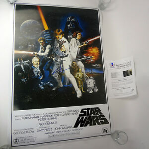 George-Lucas-Star-Wars-Signed-Autograph-Full-Size-Movie-Poster-Beckett-BAS-COA