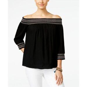 7890b68d8f1758 INC International Concepts Women's New Off The Shoulder Peasant Top ...