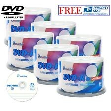300-Pack SmartBuy Logo Top Surface DVD+R DL 8X Dual Layer 8.5GB Recordable Disc