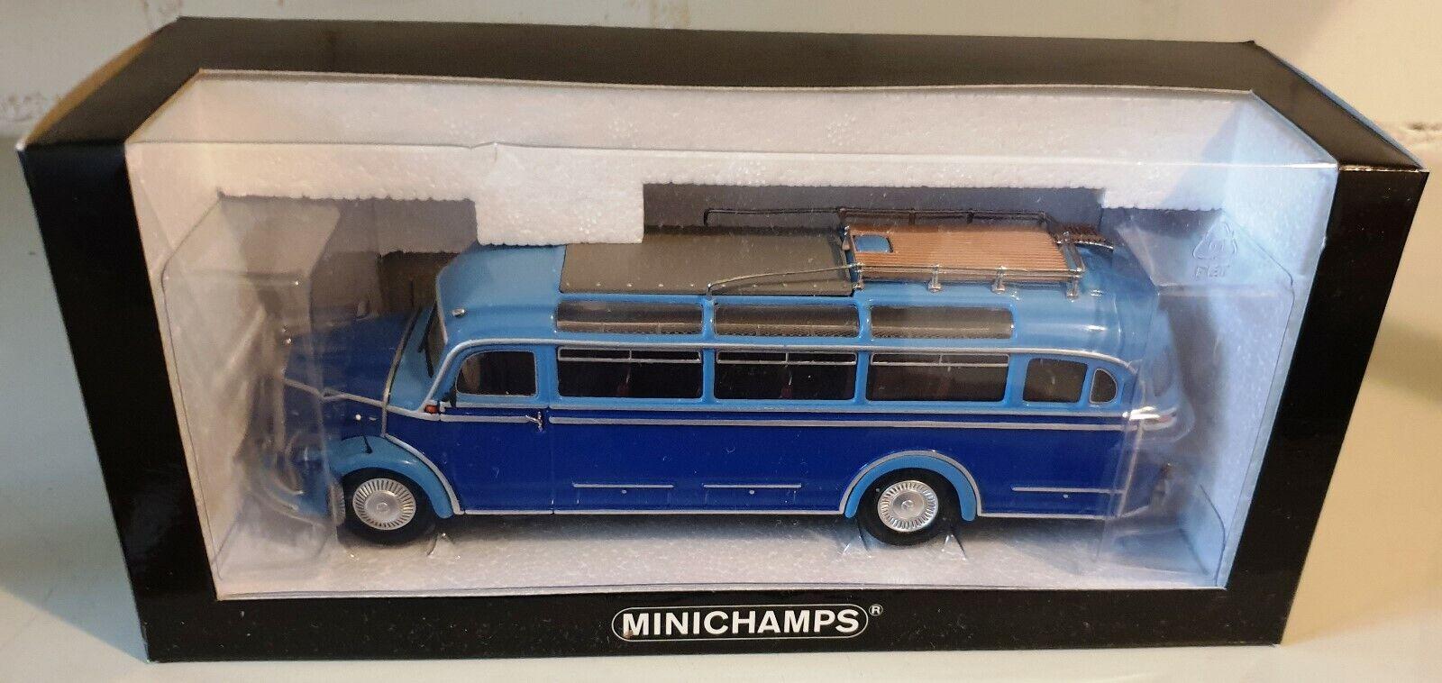 Mercedes-Benz O 3500 Bus 1954 dark Blau light Blau