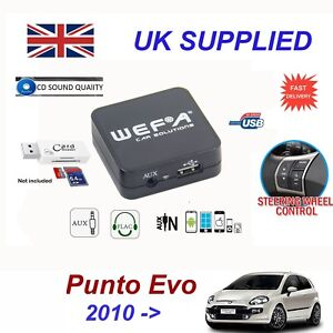 fiat punto evo mp3 sd usb cd aux input audio adapter. Black Bedroom Furniture Sets. Home Design Ideas