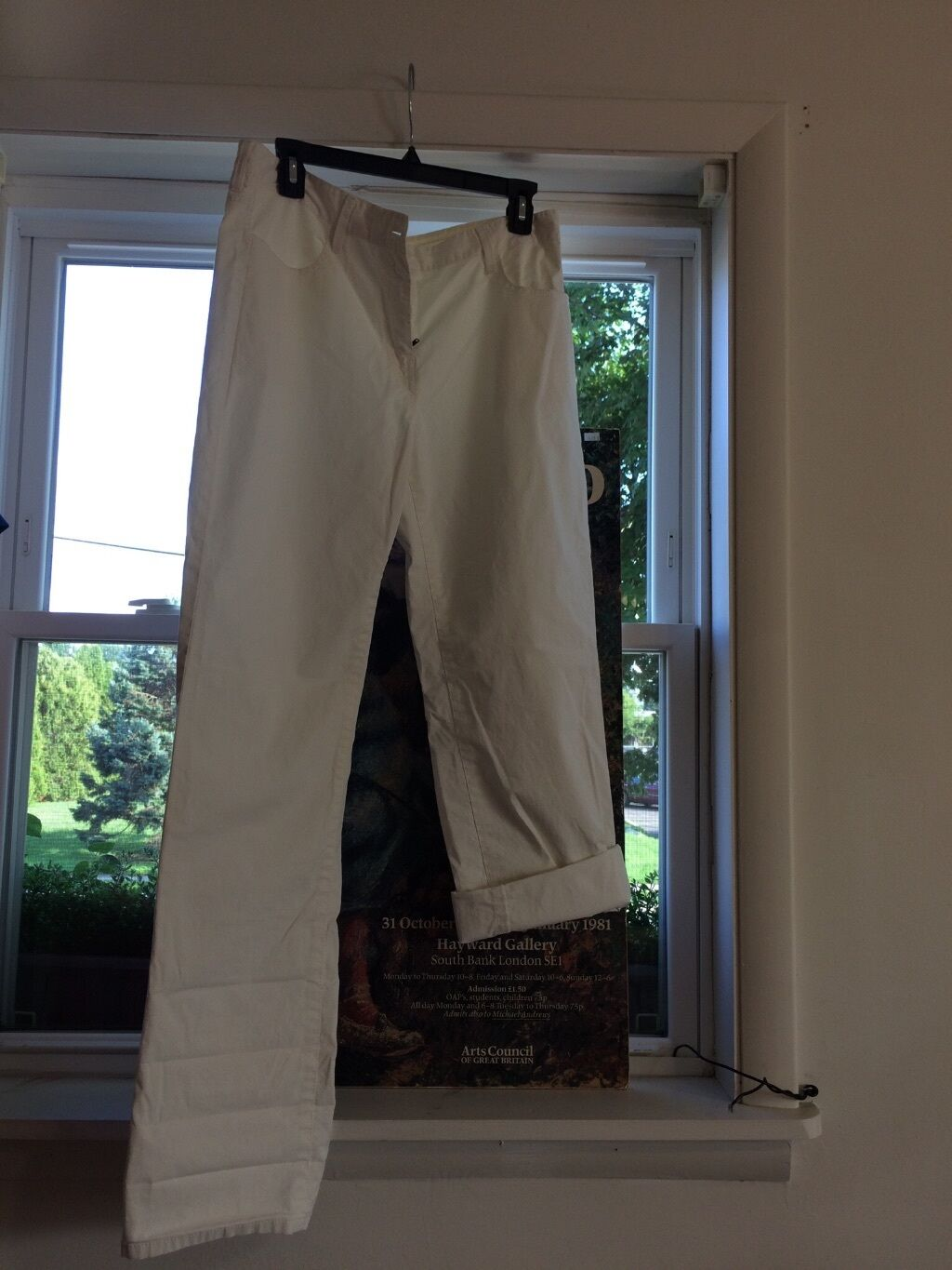 Pure DKNY woman white pants size S new with tag - N10453APB
