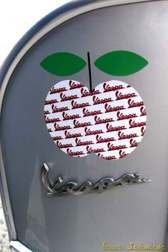 "Pegatina /""chi Vespa mangia le mele//manzana 8/"" sticker Apple decoración pierna escudo"