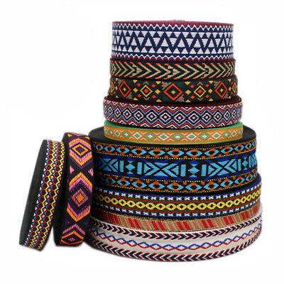15Yards Flower Jacquard Ribbon Trim Embroidery Pattern Sewing Braid Fabric Craft