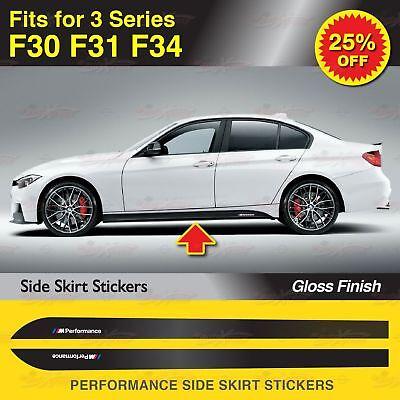 Für Bmw F30 F31 F34 3er M Performance Seitenschweller Schweller Aufkleber Glanz Ebay