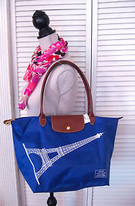 Longchamp Eiffel Tower Pliage Tote