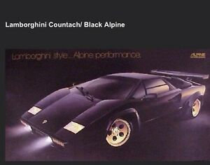 Lamborghini Countach Black Alpine Original Extremely Rare Car