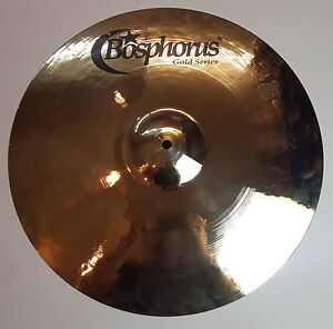 Bosphorus-Gold-Series-18-034-Full-Crash-Cymbal-Becken-1540g-Made-in-Turkey-Piatto