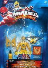 "Power Rangers Dino Thunder Yellow Dino Action Ranger New 5"" Factory Sealed 2003"