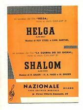 HELGA-SHALOM#Spartito Nazionale#Roy Etzel-Karl Barthel-R.Bauer-H.A.Hass-M.Binder