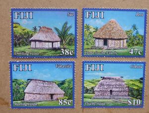 2016-FIJI-TOURISM-HUTS-SET-OF-4-MINT-STAMPS-MNH
