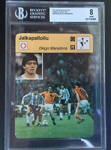 1977 80 Sportscaster Finish Version Diego Maradona Rookie Soccer Card Bgs 8 Ebay