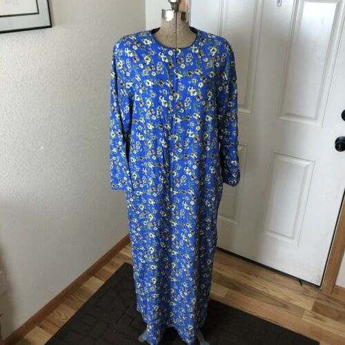 Vintage Ruth Norman Blue Butterfly House Dress