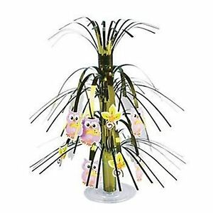 1-x-OWL-BABY-SHOWER-FOIL-TABLETOP-FOUNTAIN-HAPPI-TREE-PARTY-TABLE-DECORATION