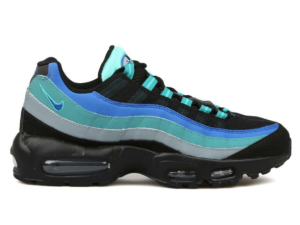 Size 10.5   11 Nike Men Air Max 95 Running shoes 609048 084 Black bluee Grey
