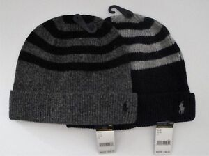 a6ed4318cf5bb NWT Ralph Lauren Polo Mens Rib Knit Wool Cashmere Watch Cap Hat One ...