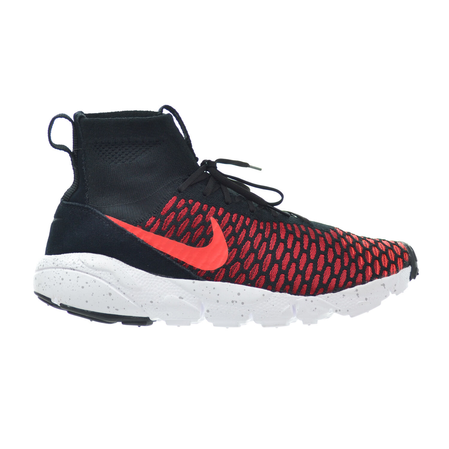 Nike Air Footscape Magista Flyknit Men's Shoes Black/Crimson/Red/Grey 816560-002